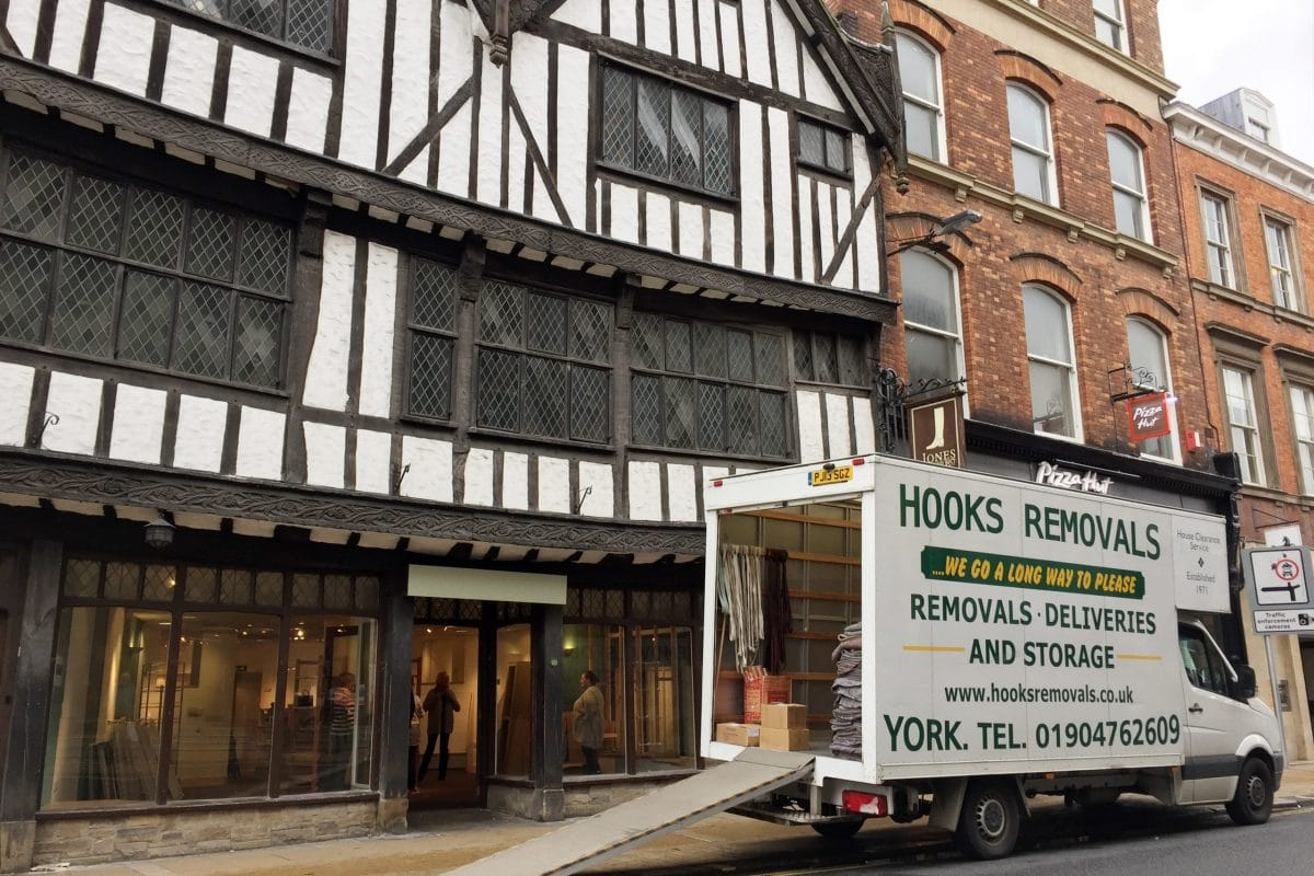 Hooks Removal van in York city centre